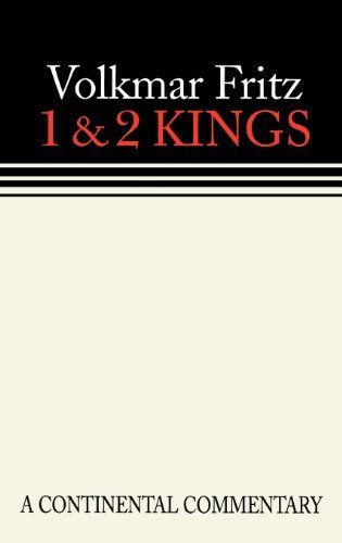 1 & 2 Kings (Continental Commentary Series):   This volume provides a readable introduction to the narrative books of 1 and 2 Kings appropriate for the student, pastor, and scholar. Fritz combines historical, literary, and archaeological approaches in an engaging synthesis. While he addresses issues of the deuteronomic redaction, the author does not become bogged down in technical discussions or allow this to overshadow the holistic interpretation of the text.