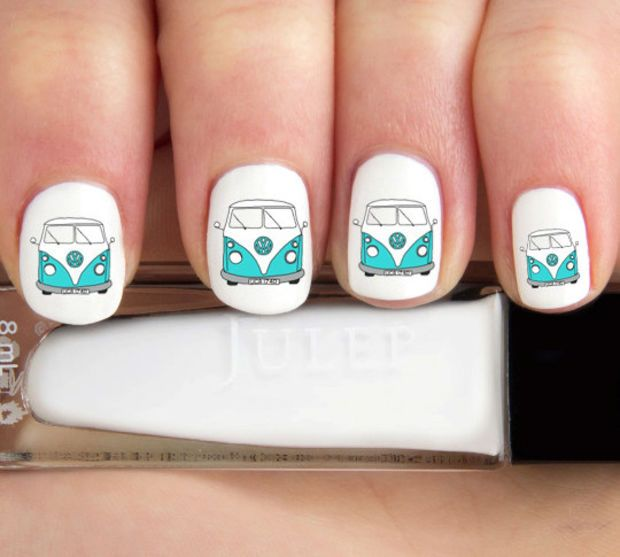 Volkswagen Van Nail Decals-24 ct.