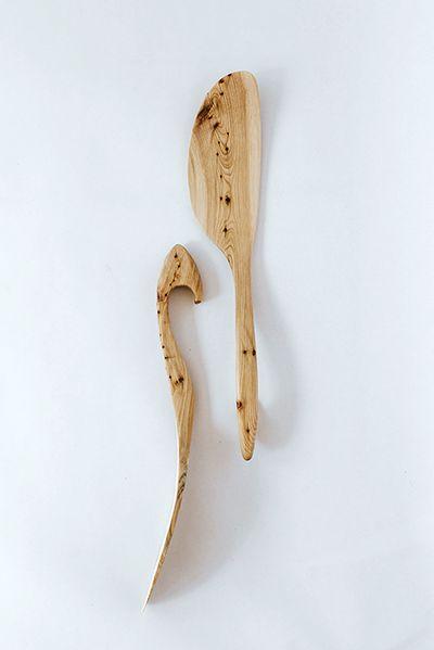 Angled Juniper Spatula