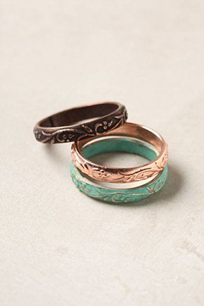 floral etched ringsFloral Etchings, Style, Accessories, Rings Trio, Jewelry Accessories, Etchings Jewelry, Colors Together, Products, Etchings Rings Lov