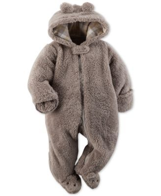 Carter's Baby Boys' Brown Hooded Coverall