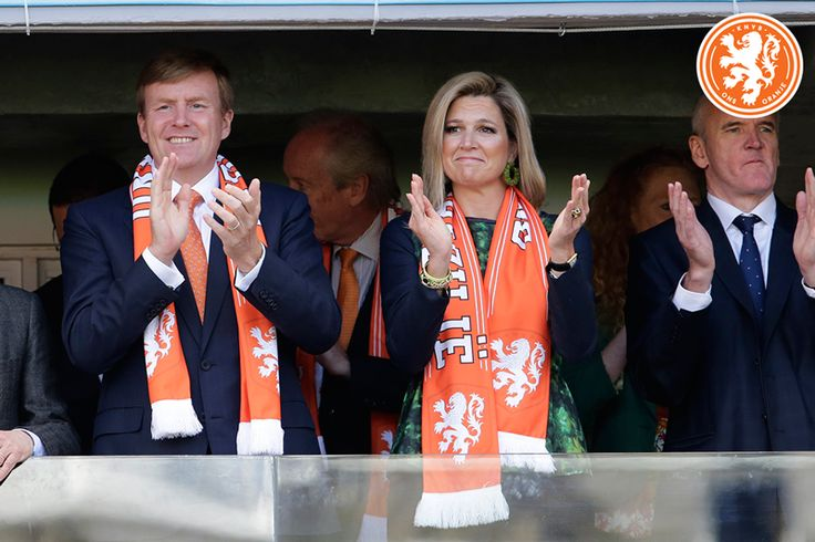 WK in Brazilië 18.06.2014. King Willem Alexander and queen Maxima visit the footbalgame Holland - Australië. Holland won 3 - 2.