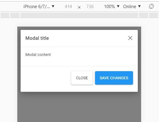 Bootstrap 4 Modal Optimized For Mobile - bootstrap-modal-ios