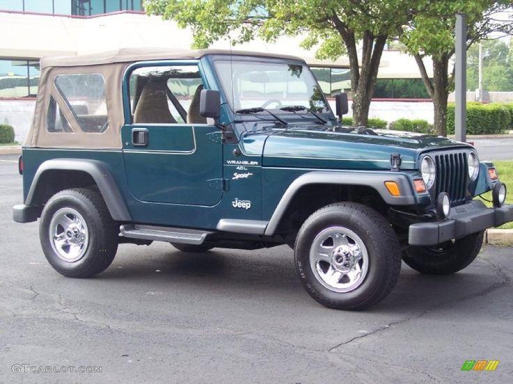Green Jeep Wrangler | 1998 Emerald Green Pearl Jeep Wrangler Sport 4x4 #30770059