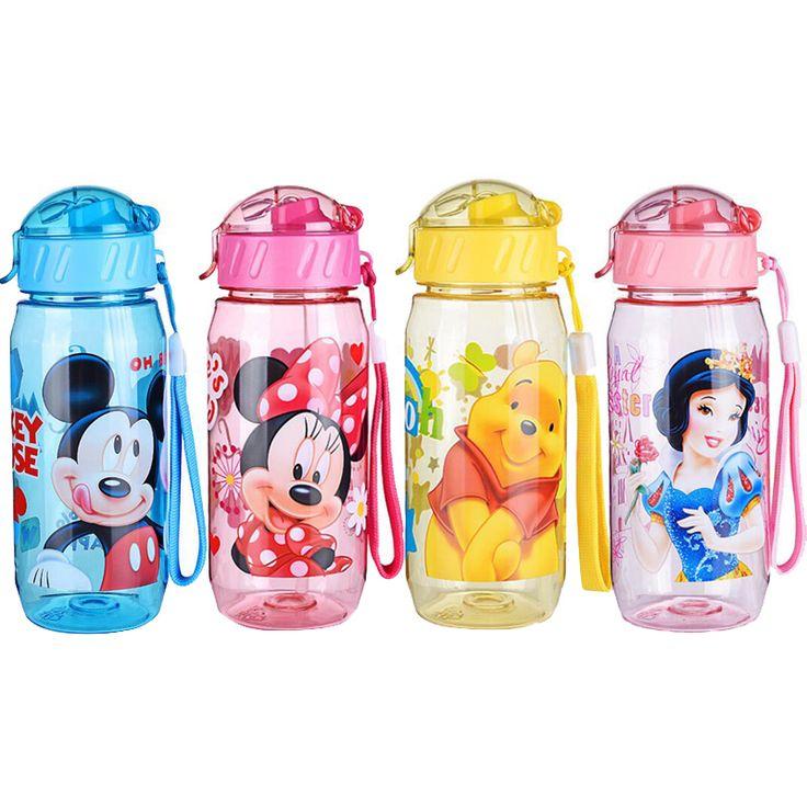 HOT MENJUAL DISNE Minnie/Mickey Mouse Anak Childrens Sekolah Cangkir Minum Botol Lipat Jerami Sipper Botol Feeding GRATIS PENGIRIMAN
