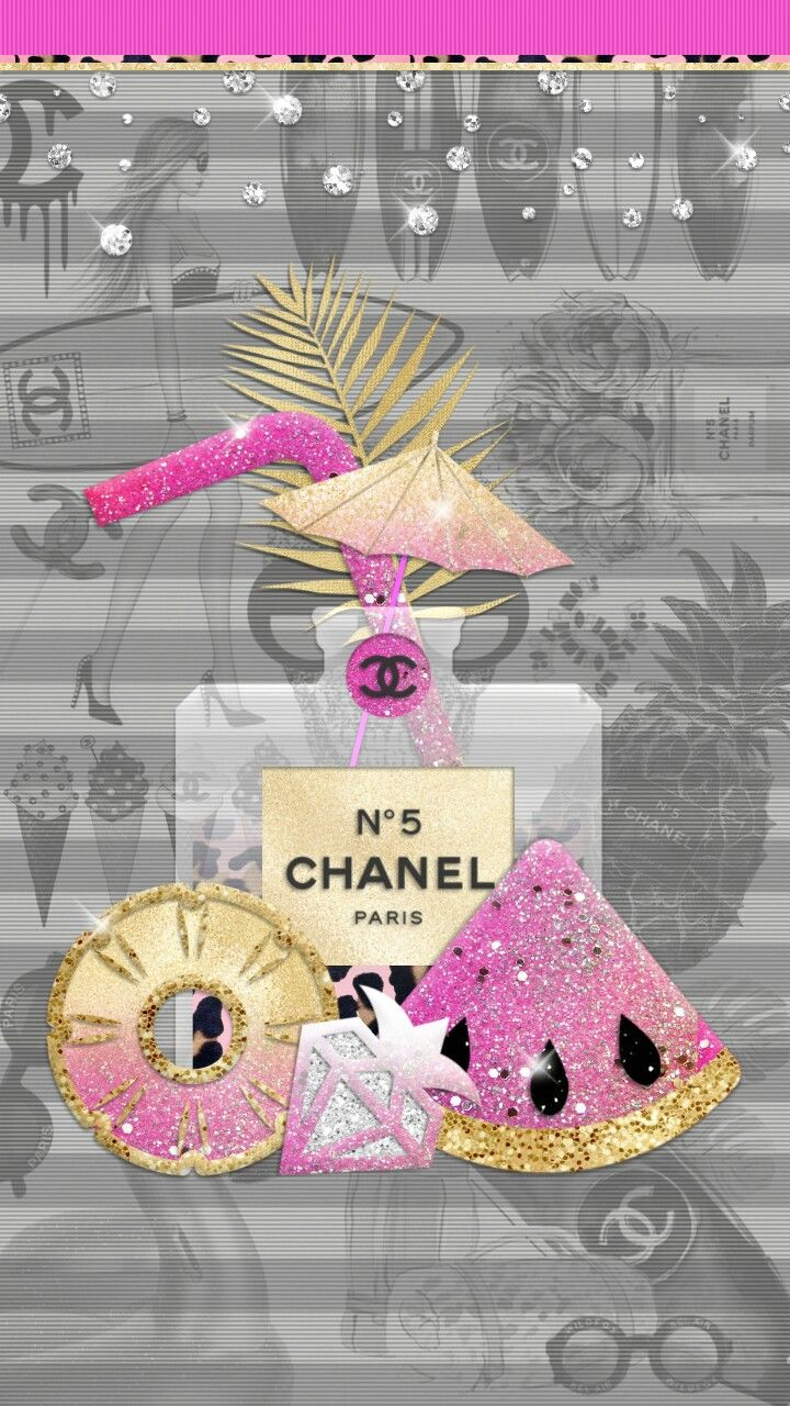 Glitters Chanel Wallpapers Cute Wallpapers Iphone Wallpaper