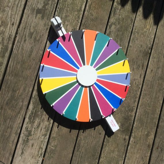 10 color flat spin chalkboard Prize Wheel Spinning Wheel Party Wheel Family Fun time Ready to Ship!
