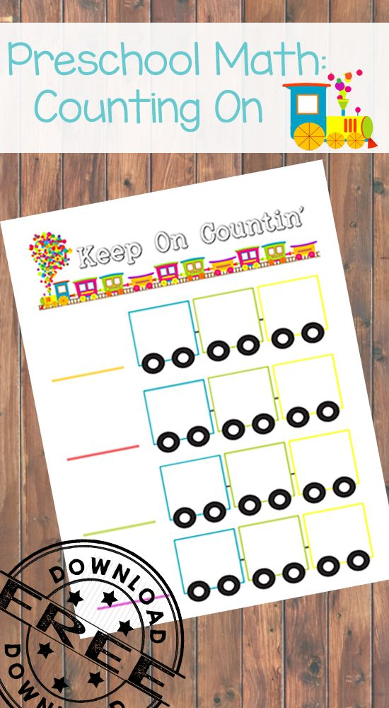 Counting On Free Printable. An awesome way to help your child grasp rote counting