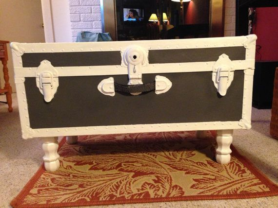Restored Vintage Steamer Trunk Coffee Table by DulcesVintageFinds, $150.00