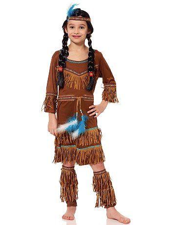 Déguisement d'indienne                             marron Enfant   - Kiabi