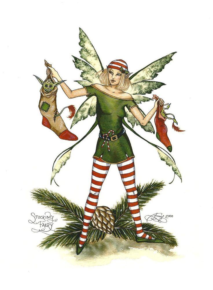 Amy Brown Christmas Stocking Faery Print