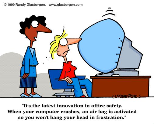 Image result for cartoons about problems with computers