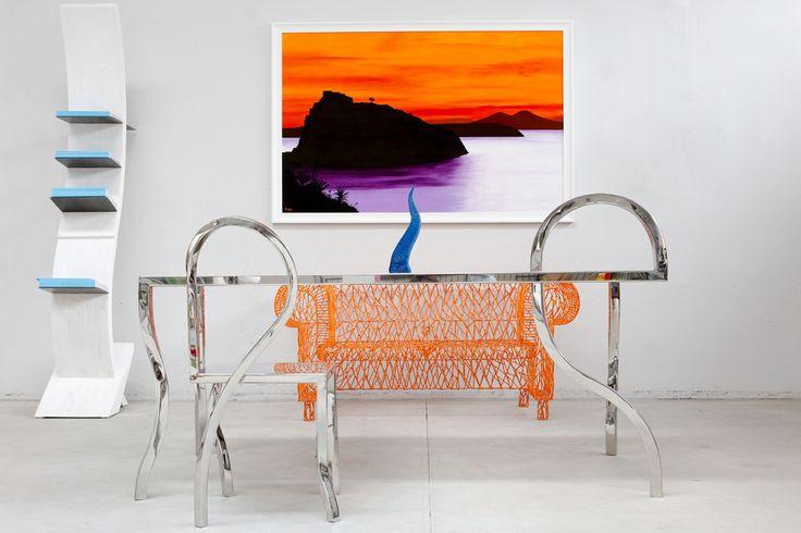 "Acrylic Canvas - ""IL CASTELLO D'ISCHIA"" by Gennaro Regina"
