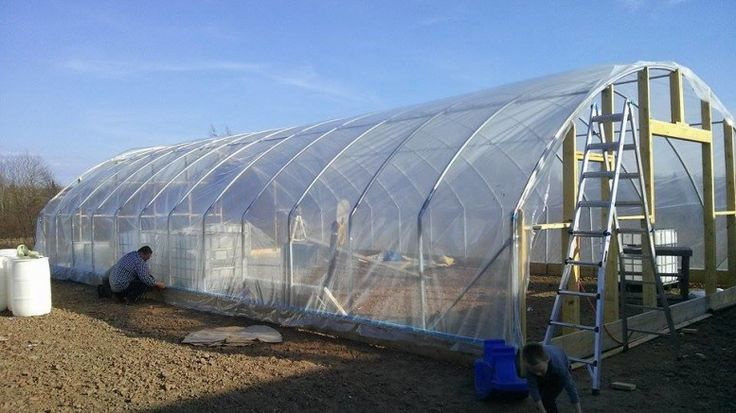 Installing Wiggle Wire For Greenhouse Plastic Covering