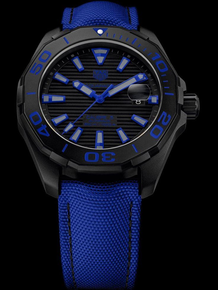 TAG Heuer Aquaracer 300 M (43 mm) Black Titanium & Nylon Strap, Automatic Calibre 5 with Date