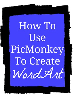 How To Use PicMonkey To Create Word Art {Tutorial} *PicMonkey also lets you make cards and photo collages. Very neat website. Worth checking out.