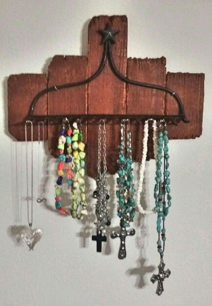 Repurposed Rake Rustic Jewelry Holder