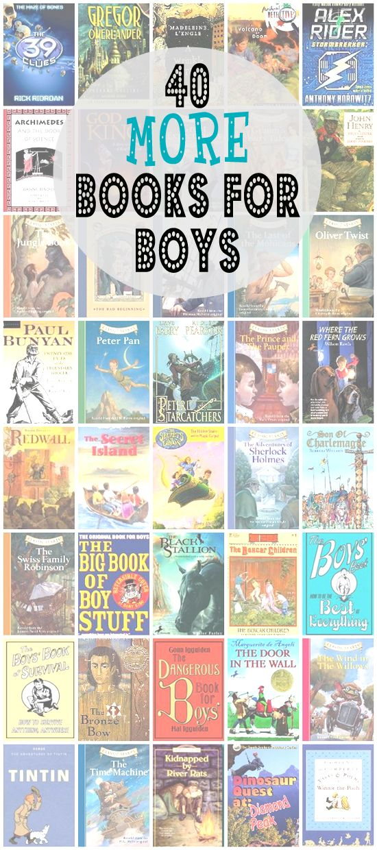 40 MORE Books for Boys | A follow-up to 40 Fiction Books for Boys : http://wp.me/p2s93s-tf