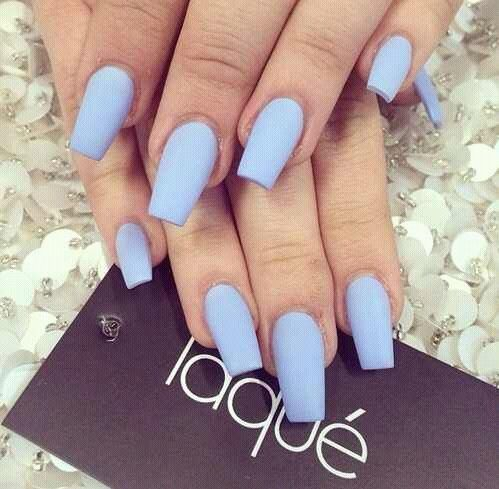 Acrylic Beauty Fashion Laque Light Blue Matte Nails Nails Pinterest Acrylics Beauty