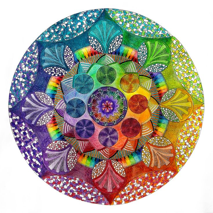 coloured by hadas64 (traditional work) by *Lou-in-Canada on deviantART ... http://lou-in-canada.deviantart.com/art/coloured-by-hadas64-traditional-work-327953206. #ZentangleDesign. #art #mandala