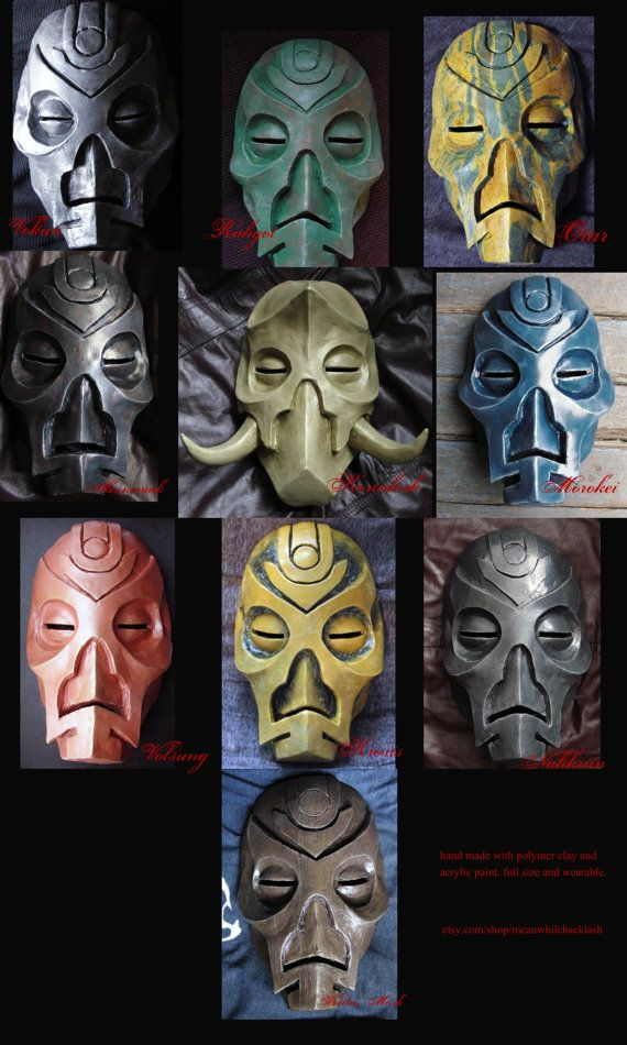 FULL SET of 10 Dragon Priest Masks polymer by meanwhilebacklash, $900.00. Omgggggg I'm nerding out. If I only had a spare $900.00...
