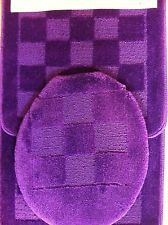 Yellow Bath Rugs and Mats | Piece PURPLE BATHROOM rug set bath rugs anti slip & contour mat lid
