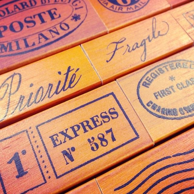 Brighten up your envelopes with these wonderful rubber stamps! #cavallini #snailmail #craft