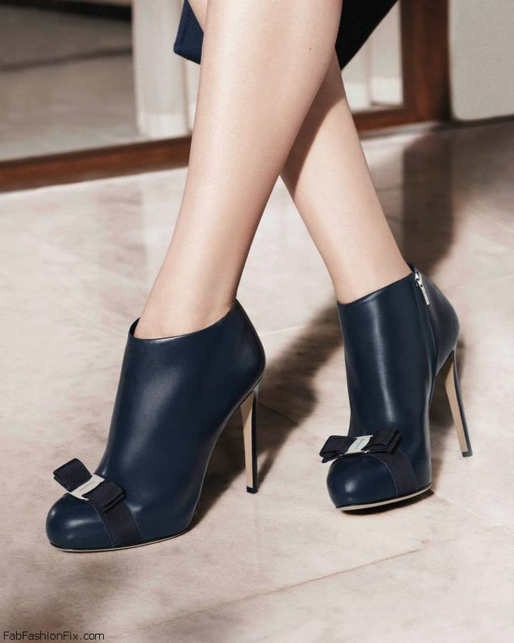 Salvatore Ferragamo booties-love the bow detail on the toe