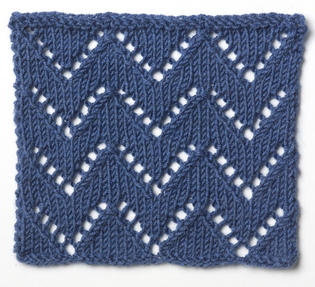 Knitting Lace Chevron Stitch Pattern : Best images about new crochet stitches to try on