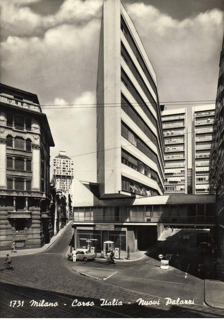 luigi moretti, corso italia, milan, 1951-1956.