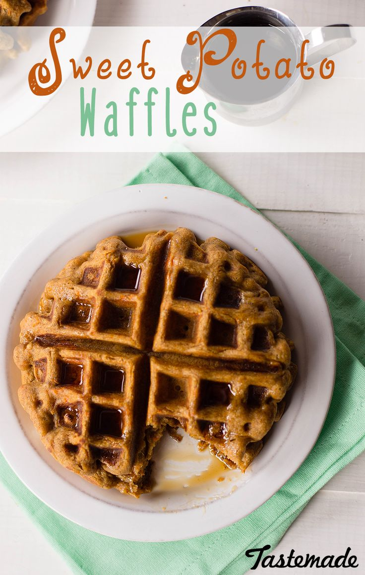 Sweet Potato Waffles | Recipe | Sweet potato waffles, Gluten and Sweet