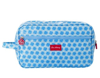 Lou Harvey - Vanity Bag - Gusset - Circle Flower - Blue