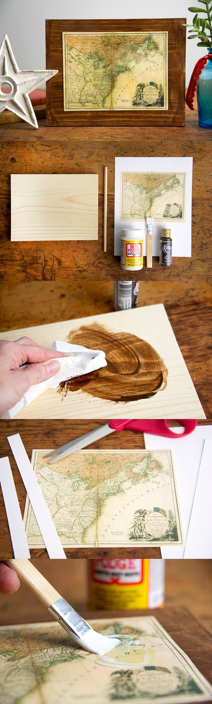 how to use mod podge as a sealer