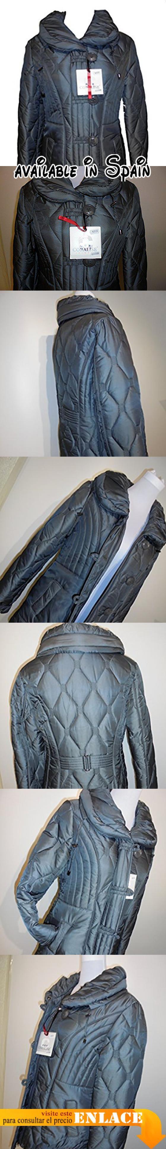B015HGLGO0 : CORALISE - Abrigo impermeable - Manga larga - para mujer gris Medium.
