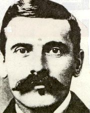 """John Henry """"Doc"""" Holliday, Aug. 14, 1851 - Nov. 8,1887, involvement in the Gunfight at the O.K. Corral. Wyatt Earp said of Doc Holliday, """"outside of my brothers Doc Holliday and Sherman McMasters are the only men I trust"""". Holliday also took part in the Earp Vendetta Ride to find and kill the men who had been part of the assassination of Morgan Earp on March 19,1882. John Henry """"Doc"""" Holliday died on Nov. 8,1887 from tuberculosis, generally then called """"consumption"""". He was 36 years old."""