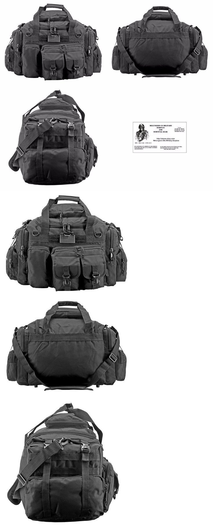 Other Emergency Gear 181415: The Humvee Duffel Bag Bug Out Bag Tactical Military Survival Gear - Black -> BUY IT NOW ONLY: $44.99 on eBay!
