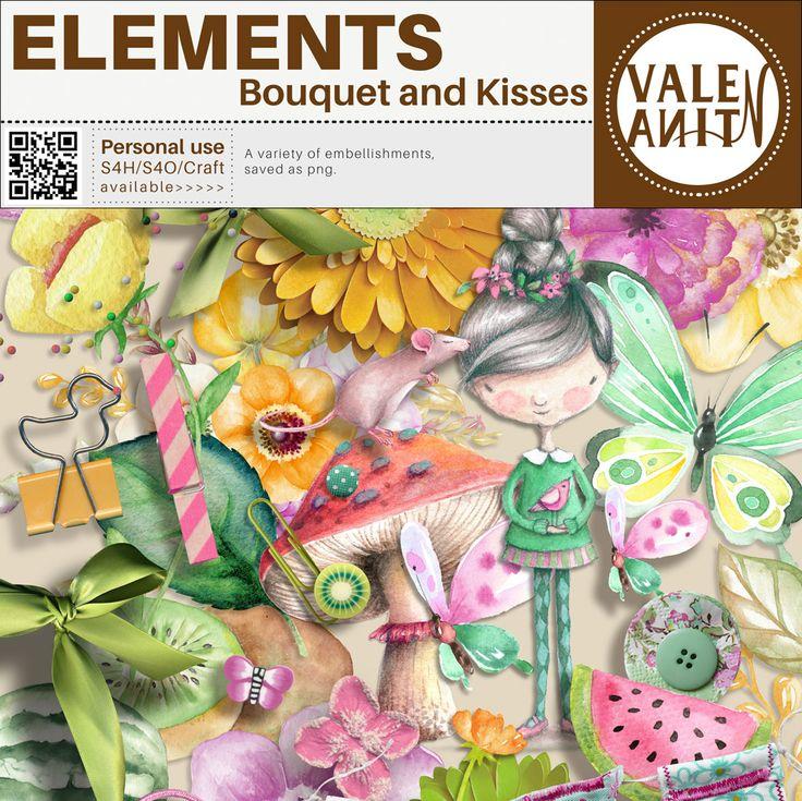 Personal Use :: Element Packs :: Bouquet and Kisses - April Planner (Elements)