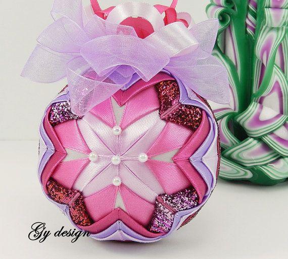 Albero di Natale rosa viola armonia ornamenti ornamento di Gydesi