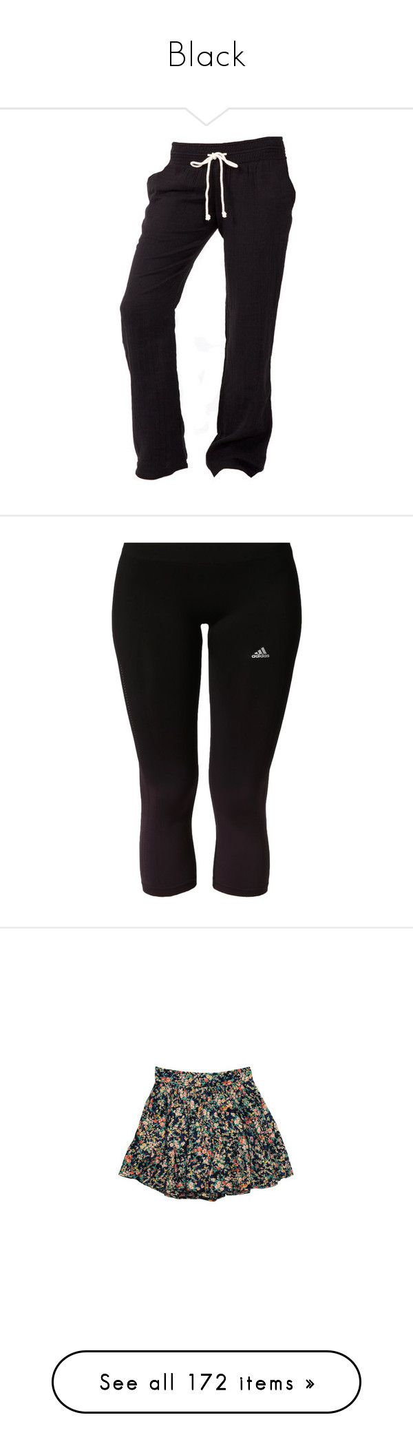 """Black"" by niamhgreen17 ❤ liked on Polyvore featuring pants, bottoms, sweatpants, black, plus size women's fashion, plus size clothing, plus size activewear, plus size activewear pants, dark red and adidas"