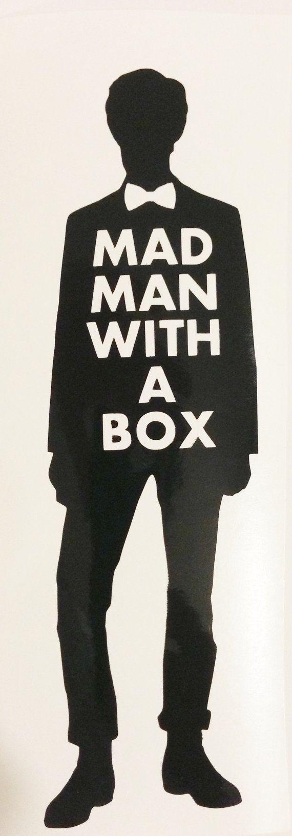 Doctor Who inspiré-onzième docteur Mad Man avec un boîte vinyle autocollant