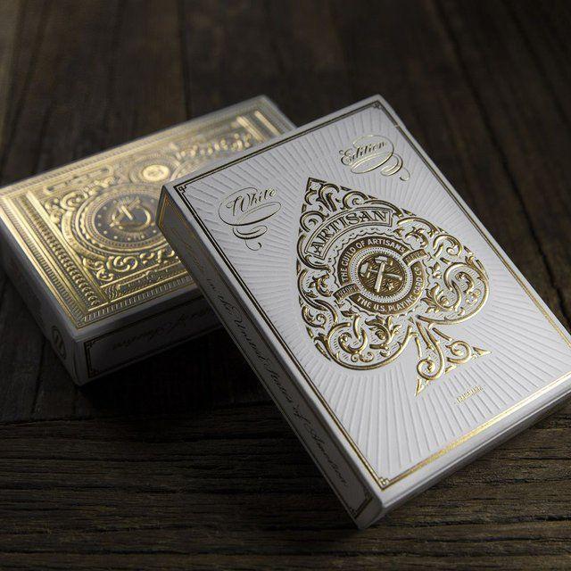 (37) Fancy - White Artisan Playing Cards