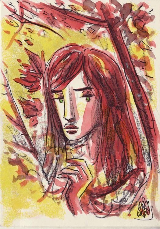 Carla d'Estate. China, colorex su carta. 2014.