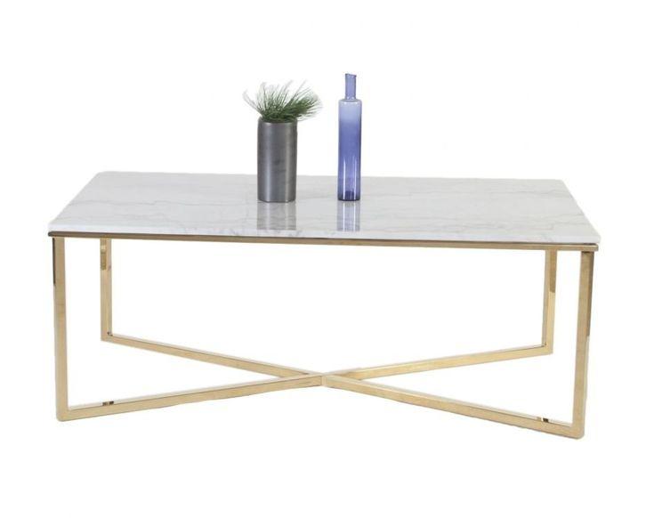 Köp - 3990 kr! Maryland soffbord 130 - Mässing. Elegant soffbord i marmor med underrede i mässing.Specifikationer: Material: Marmor /