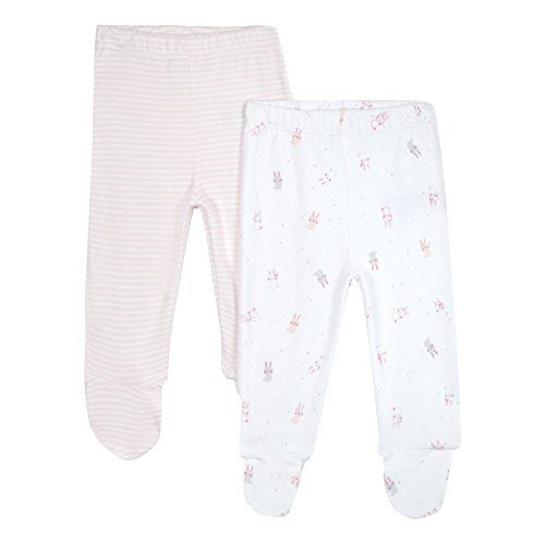 Trousers with built in socks/feet are much easier. Whoever invented socks for sub-6 month old should be given a good talking to.  Pack Of Two Baby Girls' Pink Striped And Bunny Print Foot... https://www.amazon.co.uk/dp/B01EVJYMMM/ref=cm_sw_r_pi_dp_x_wMh9zbYM1JYSR