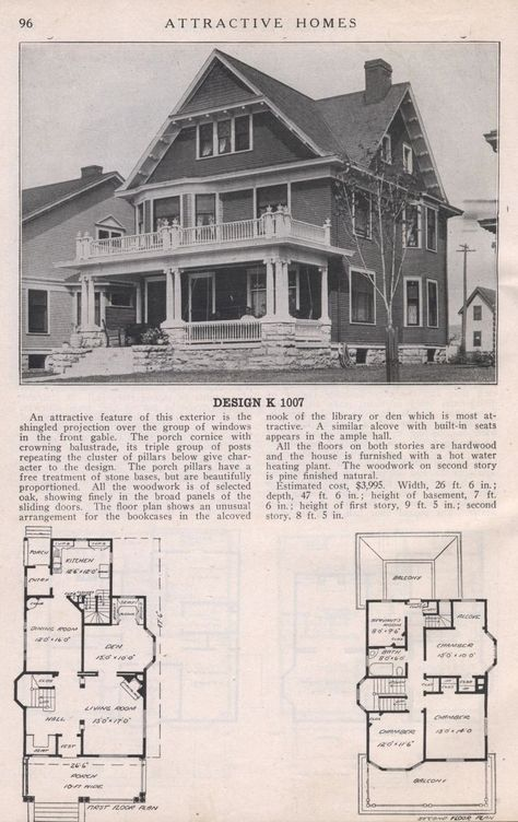 Attractive Homes, 1912. Max. L Keith. From the Association for Preservation Technology (APT) - Building Technology Heritage Library, an online archive of period architectural trade catalogs. It contains thousands of catalogs. Select your material and become an architectural time traveler as you flip through the pages.