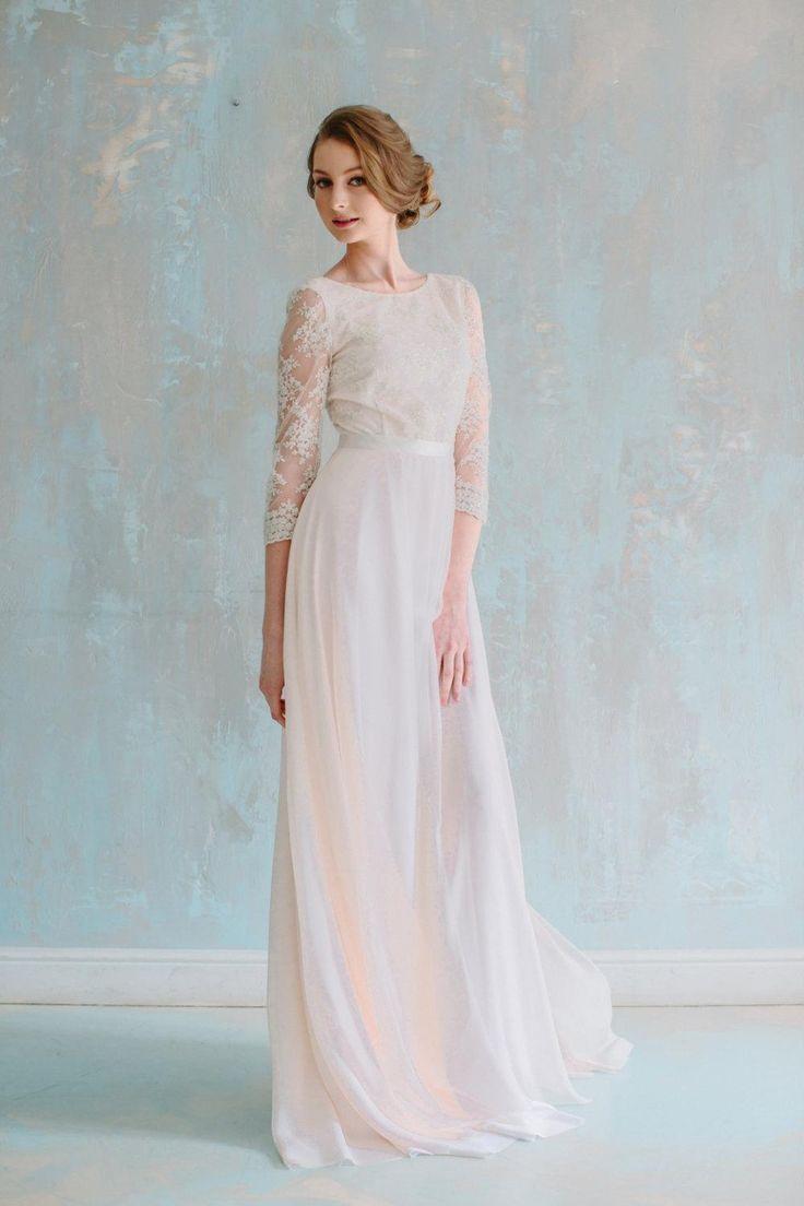38 best Lace Wedding Dresses images on Pinterest | Short wedding ...