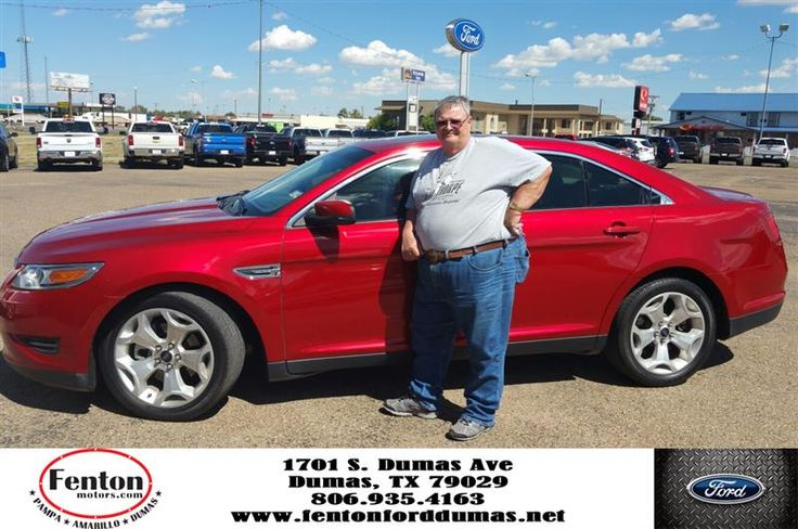 I just bought a 2011 Ford Tarus from Fenton Ford in Dumus ,Texas. They came to my house in Gage,OK. to pick me up to go get the car because my car had broke down and I had no way of transportation. That was a 2 1/2 hr drive. Ja`Miah Burnett was just great in showing this dumb guy how to use all the electronics and technology that the car was equipped with and without his help I probably couldn`t have even started the car. So a big thank you to Fenton for of Dumas,TX and to Ja`Miah Burnett…
