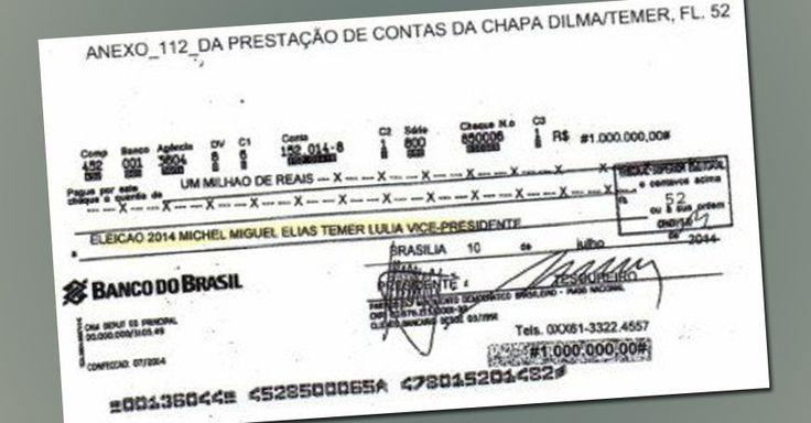 Checão de R$ 1 milhão implode o Temer
