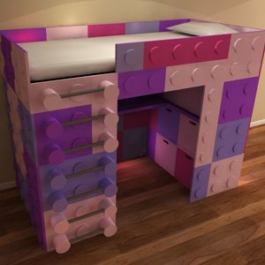 Luxury lego themed high sleeper bed with storage - space saving design ideal for lego fans - Bedroom Design Inspirations 01303 251184 - info@bdikent.co.uk