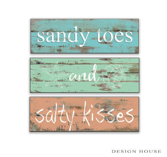Personalized Beach House Plaques: Beach Signs Beach Plaques Beach Decor Cottage Signs
